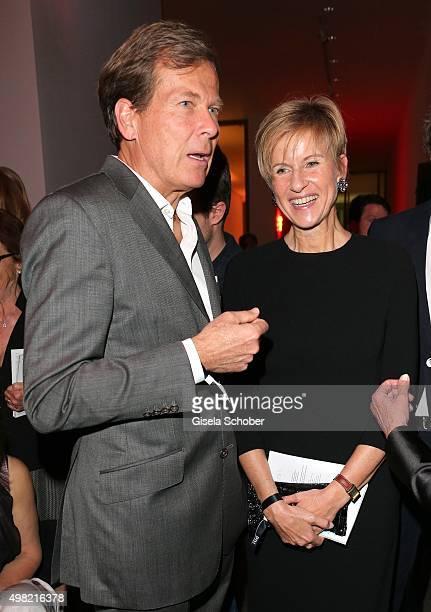 Susanne Klatten and her husband Jan Klatten during the PIN Party 4 Art at Pinakothek der Moderne on November 21 2015 in Munich Germany
