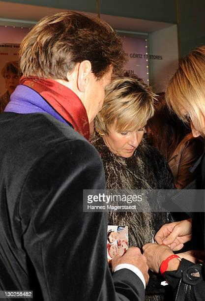 Susanne Klatten and Jan Klatten attend 'Eine Ganz Heisse Nummer' Germany premiere at the Mathaeser Filmpalast on October 25 2011 in Munich Germany