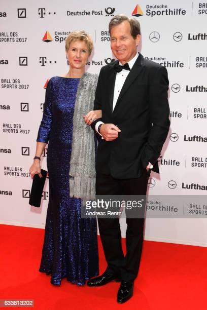 Susanne Klatten and Jan Klatten attend the German Sports Gala 'Ball des Sports 2017' on February 4 2017 in Wiesbaden Germany
