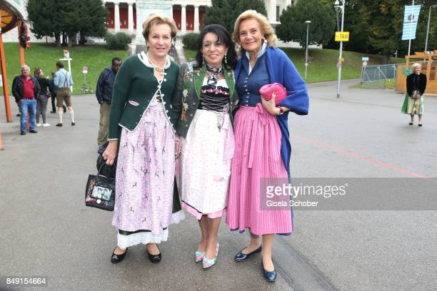 Susanne Lanz Regine Sixt and Susanne Porsche during the Sixt Wiesn during the Oktoberfest at Theresienwiese on September 18 2017 in Munich Germany