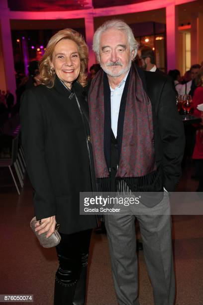 Susanne Porsche and her partner Xaver Schwarzenberger during the PIN Party 'Let's party 4 art' at Pinakothek der Moderne on November 18 2017 in...