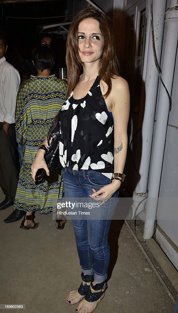 Susanne Roshan attending Special preview of Otlo Design project hosted by Belvedere Vodka at Bhavishyavani Backyard, Bandra on March 11, 2013 in Mumbai, India.