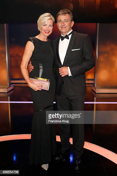 Susanne Sigl and Hans Sigl attend the Deutscher Fernsehpreis 2014 after show party on October 02 2014 in Cologne Germany