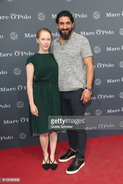 Susanne Wuest and Numan Acar during the 50th anniversary celebration of Marc O'Polo at its headquarters on July 6 2017 in Stephanskirchen near...