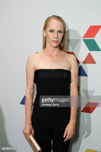 Susanne Wuest attends an EAMES Celebration by HUGO BOSS and Vitra Design Museum at Lapidarium on October 4 2017 in Berlin Germany
