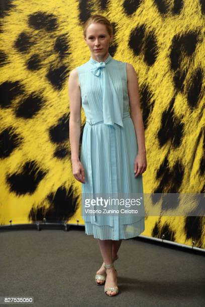 Susanne Wuest attends 'Iceman' photocall during the 70th Locarno Film Festival on August 8 2017 in Locarno Switzerland
