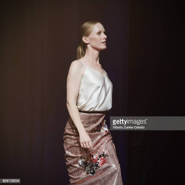 Susanne Wuest attends 'Iceman' premiere during the 70th Locarno Film Festival on August 8 2017 in Locarno Switzerland