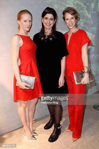 Susanne Wuest designer Dorothee Schumacher and Chiara Schoras attend the Schumacher after show party during MercedesBenz Fashion Week Autumn/Winter...