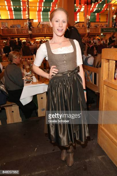 Susanne Wuest during the 'Fruehstueck bei Tiffany' at Schuetzenfesthalle at the Oktoberfest on September 16 2017 in Munich Germany