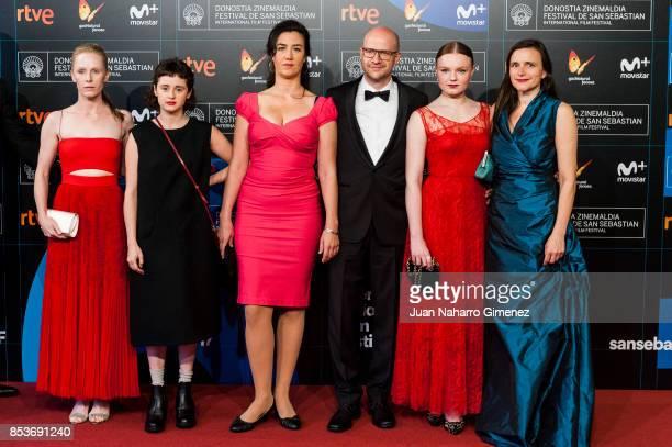 Susanne Wuest Maresi Riegner Katja Kolm Lukas Miko Maria Dragus and Barbara Albert attends 'Light' premiere during 65th San Sebastian Film Festival...