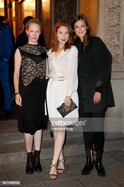 Susanne Wuest Nora Waldstaetten and Alexandra Maria Lara wearing Louis Vuitton attend the 'Louis Vuitton Time Capsule' Exhibition Opening at...