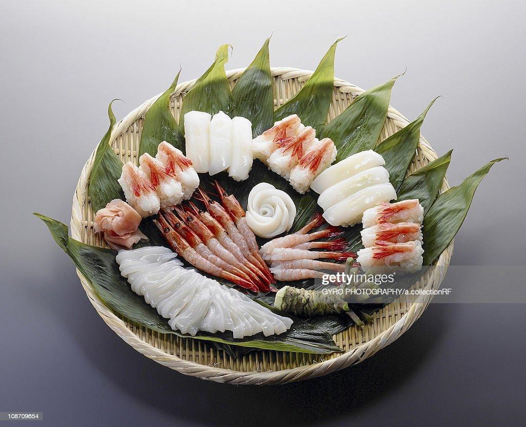 sushi and sashimi : Stock Photo