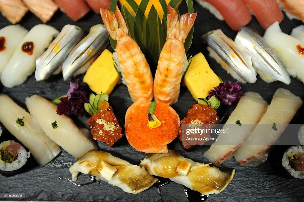 Sushi Dishes Made By Sushi Chef Are Seen During The World Sushi Cup Picture Id591939928