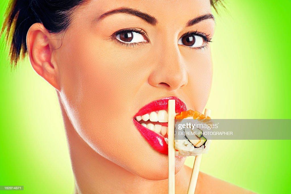 Sushi Girl : Stock Photo