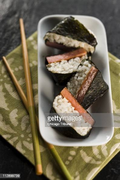 Sushi made with Spam is a Hawaiian specialty perfect for an inauguration party