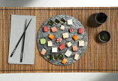 sushi on a platter