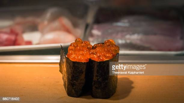 Sushi (Salmon roe nigiri)