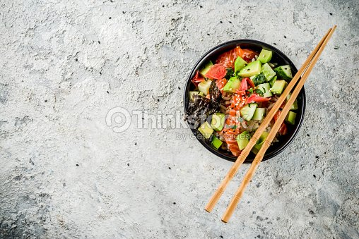 Sushi poke bowl : Stock Photo