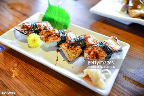 Sushi rice grilled eel