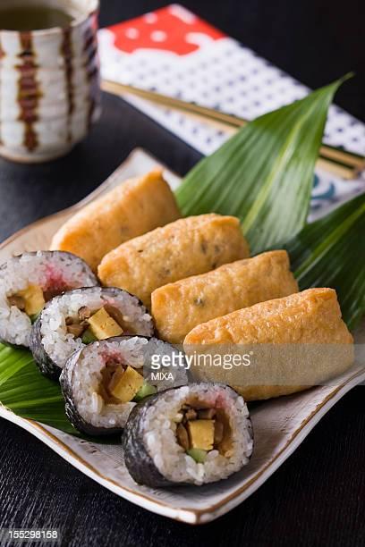 Sushi Rolls and Inari Sushi