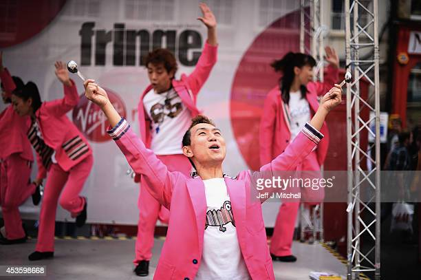 Sushi Tap Show perform in the Edinburgh Festival Fringe on the Royal Mile on August 14 2014 in Edinburgh Scotland The largest performing arts...