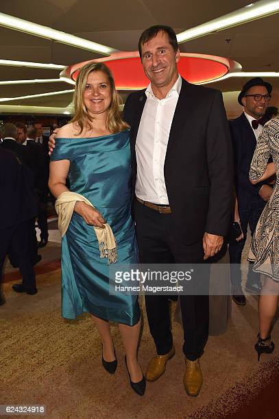 Susi Erdmann and Lars Riedel during the charity dinner hosted by the Leon Heart Foundation at Hotel Vier Jahreszeiten on November 18 2016 in Munich...