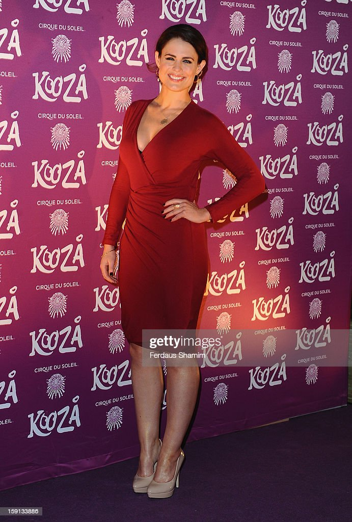 Susie Amy attends the opening night of Cirque Du Soleil's Kooza at Royal Albert Hall on January 8, 2013 in London, England.