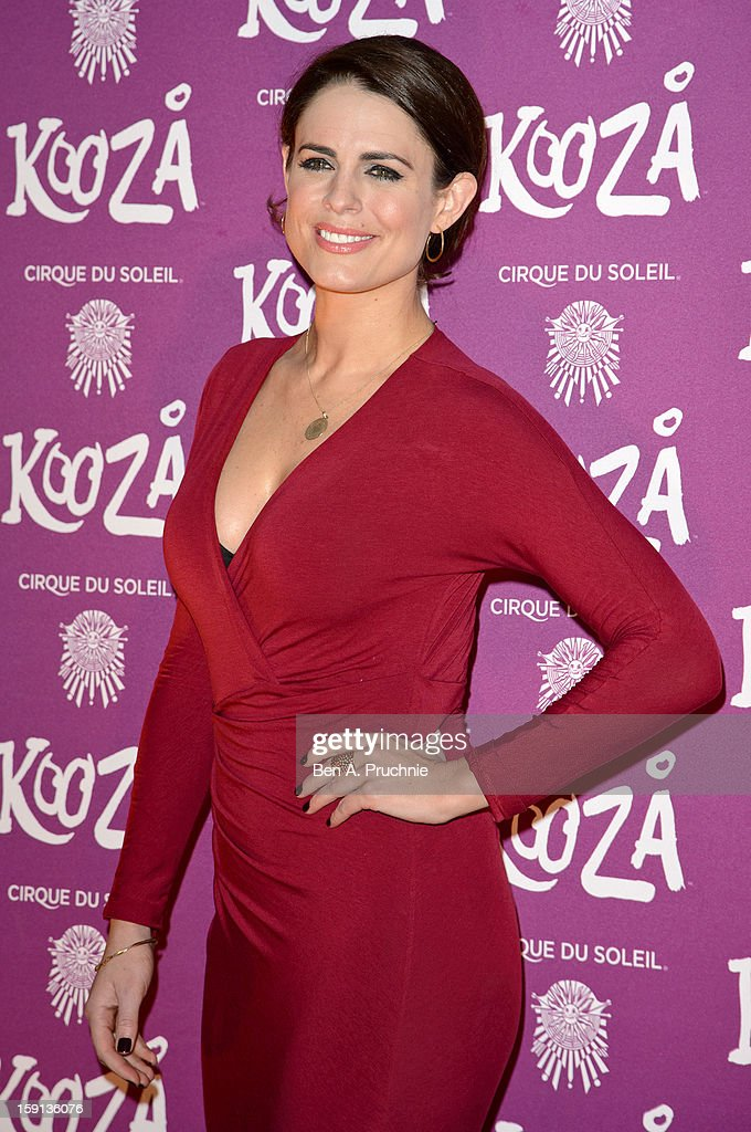 Susie Amy attends the opening night of Cirque Du Soleil's Kooza at the Royal Albert Hall on January 8, 2013 in London, England.