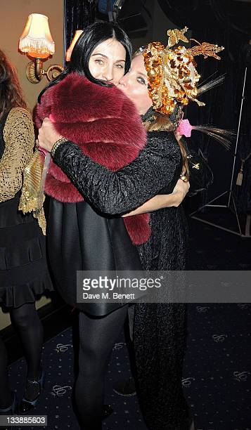 Susie Bick and Katrine Boorman attend The Hoping Variety Show A Benefit Evening For Palestinian Refugee Children at Cafe de Paris on November 21 2011...