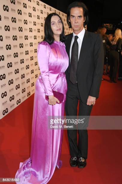 Susie Bick and Nick Cave attend the GQ Men Of The Year Awards at the Tate Modern on September 5 2017 in London England