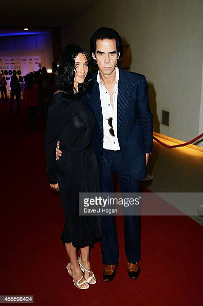 Susie Bick and Nick Cave attends the '20000 Days on Earth' Gala preview screening at Barbican Centre on September 17 2014 in London England