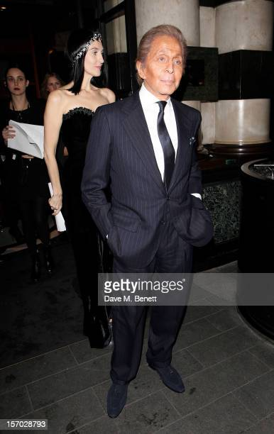 Susie Bick and Valentino Garavani attend the British Fashion Awards 2012 MercedesBenz arrivals at The Savoy Hotel on November 27 2012 in London...