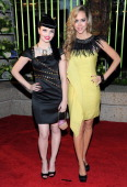 Susie Brown and Danelle Everett of The Janedear Girls attend the 59th Annual BMI Country Awards on November 8 2011 in Nashville Tennessee