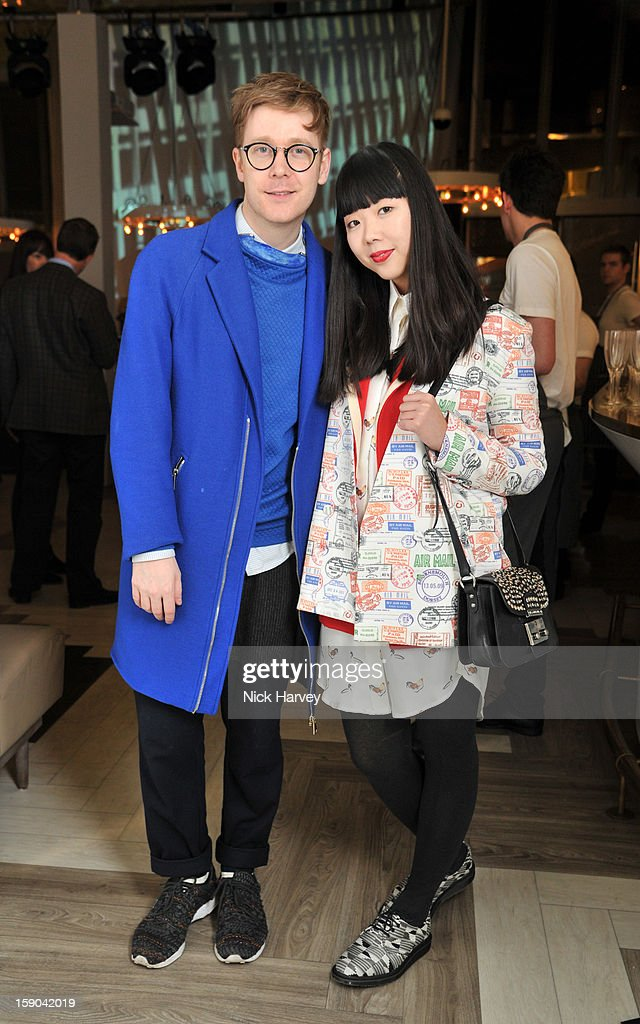 Susie Bubble and Steve Salter attend the launch of 1205 Paula Gerbase Hosted By Harvey Nichols ahead of the London Collections: MEN AW13 at on January 6, 2013 in London, England.