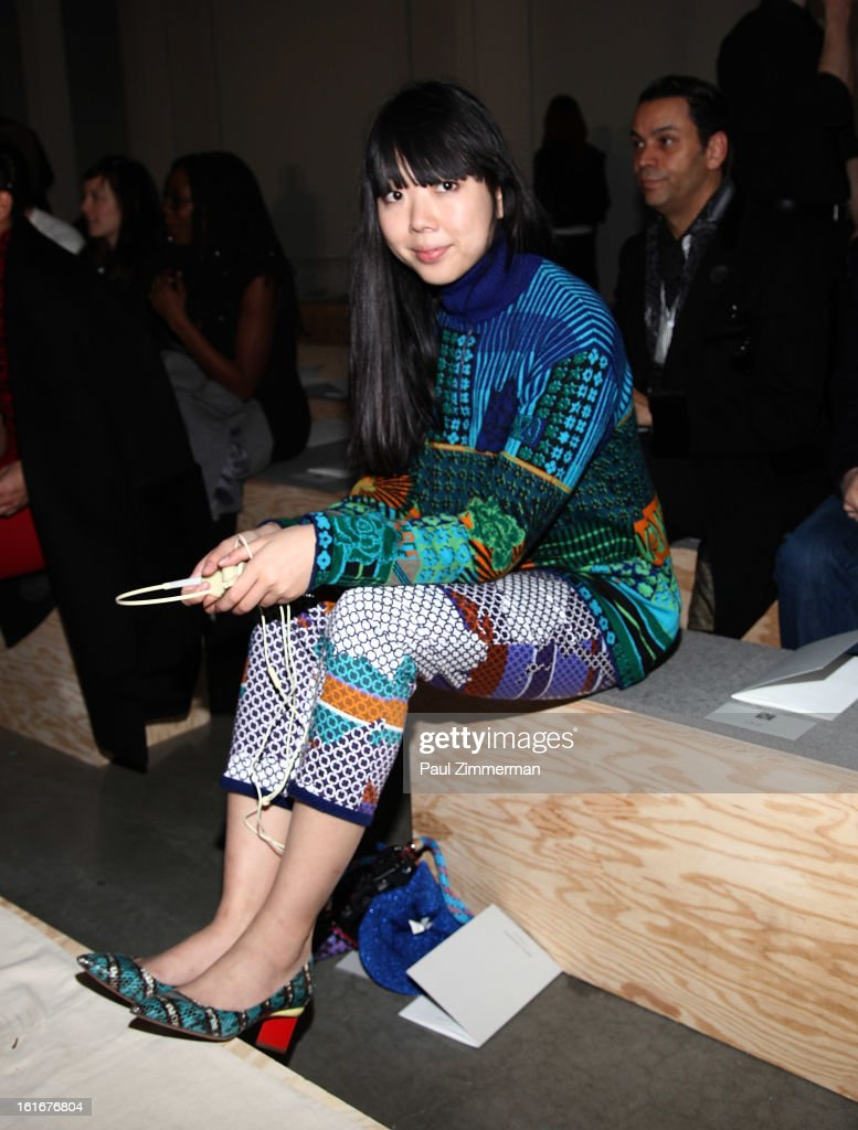 Susie Bubble attends Reed Krakoff during Fall 2013 Mercedes-Benz Fashion Week on February 13, 2013 in New York City.