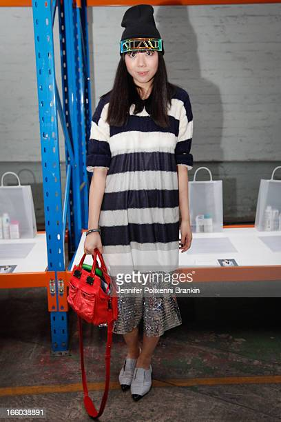 Susie Bubble attends the Christopher Esber show during MercedesBenz Fashion Week Australia Spring/Summer 2013/14 at 10 Carrington Rd Marrickville on...