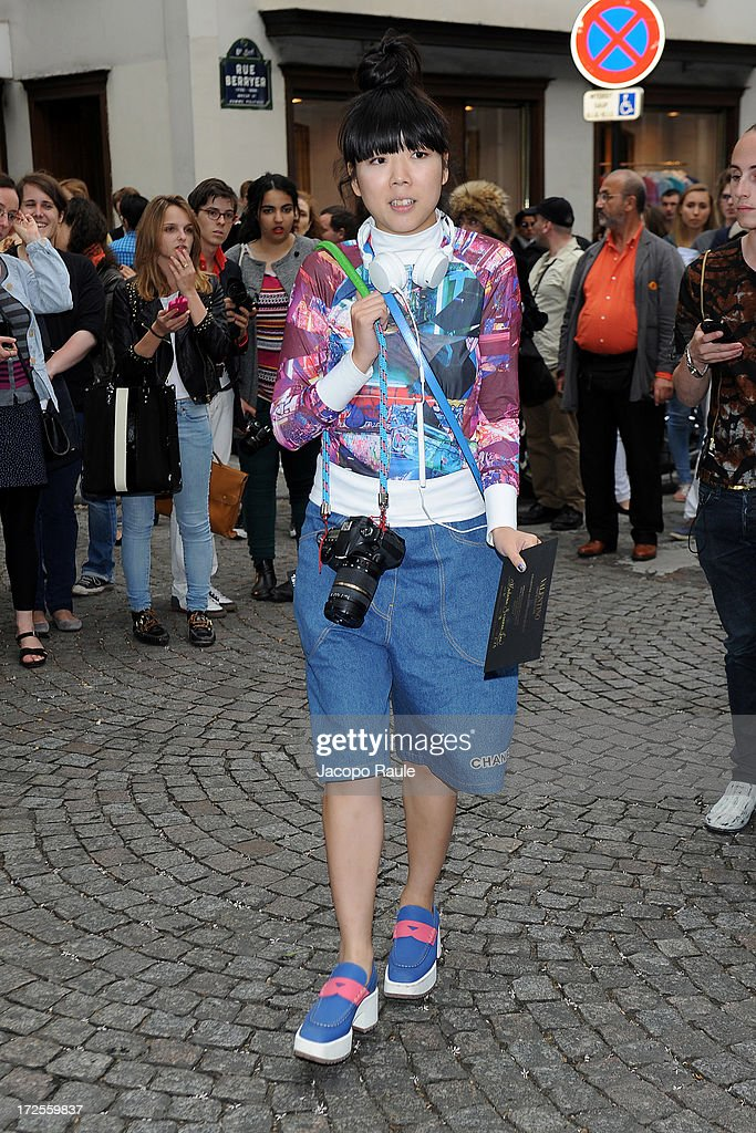 Susie Bubble attends the Valentino show as part of Paris Fashion Week Haute-Couture Fall/Winter 2013-2014 at Hotel Salomon de Rothschild on July 3, 2013 in Paris, France.