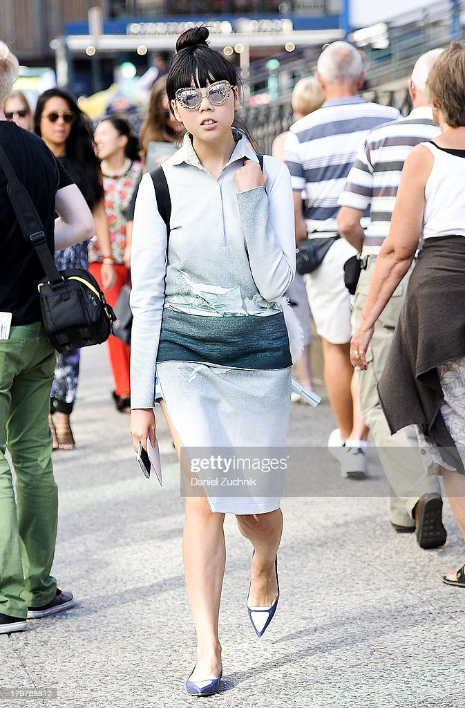 Susie Bubble is seen outside the Rag and Bone show on September 6, 2013 in New York City.
