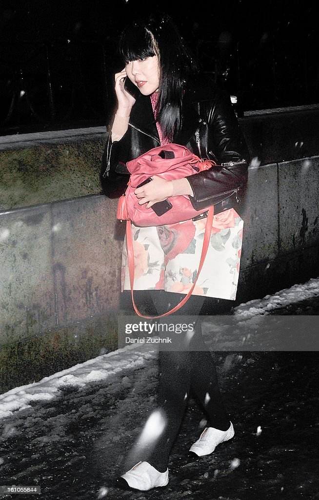 Susie Bubble seen leaving the Rag and Bone show on February 7, 2013 in New York City.
