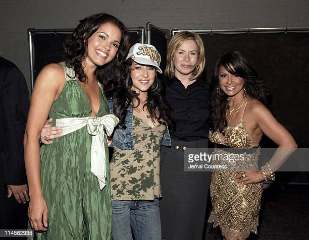Susie Castillo, Jeannie Ortega, Lori Majewski and Paula Abdul