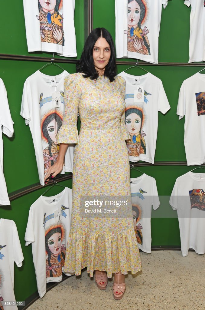 Susie Cave attends the Dover Street Market open house on October 6, 2017 in London, England.