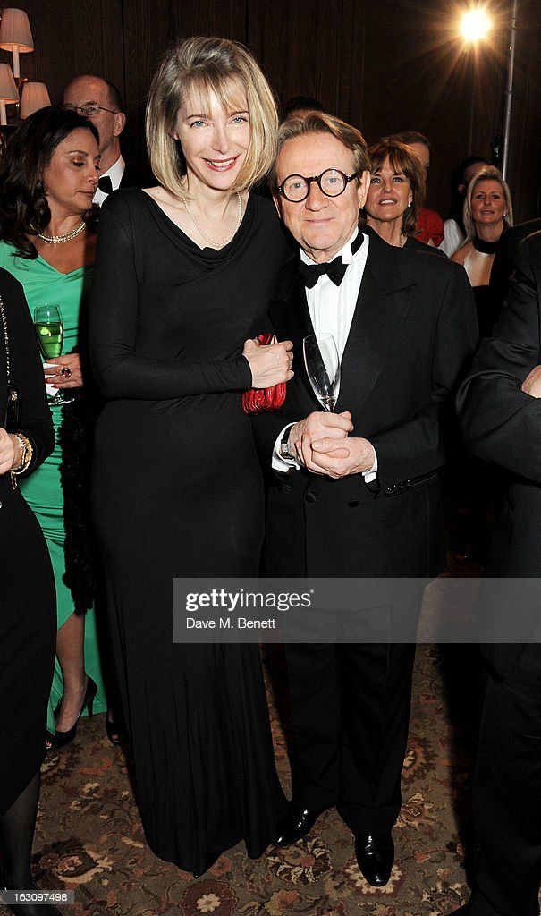 Susie Howard (L) and John Swannell attend the 'Who's Cooking Dinner?' charity event, featuring 20 of the capital's finest chefs cooking dinner for 200 diners in aid of leukaemia charity Leuka, at the Four Seasons Hotel on March 4, 2013 in London, England.