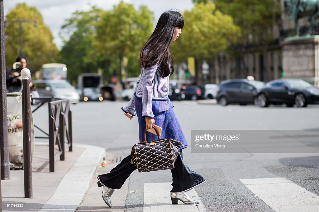 Susie Lau at Miu Miu during the Paris Fashion Week Womenswear Spring/Summer 2016 on Oktober 7 2015 in Paris France