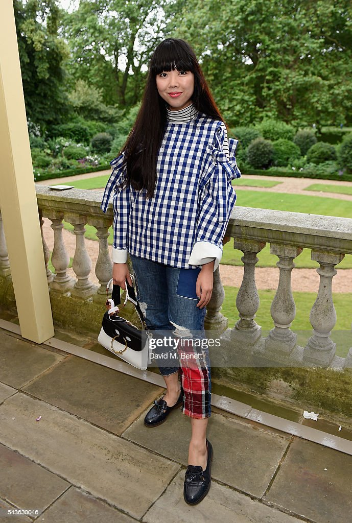 Susie Lau attends the Creatures of the Wind Resort 2017 collection and runway show presented by Farfetch at Spencer House on June 29, 2016 in London, England.