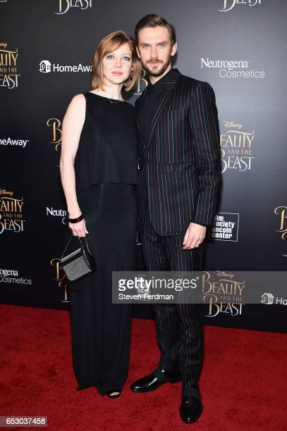 Susie Stevens and Dan Stevens attend the New York Screening of 'Beauty And The Beast' at Alice Tully Hall on March 13 2017 in New York City