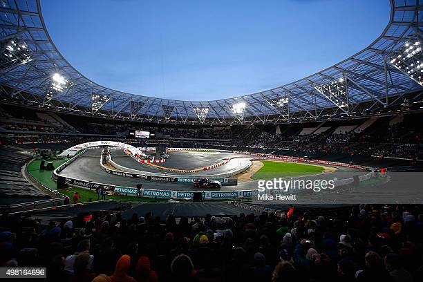 Susie Wolff of Scotland in action during the Race of Champions at the Olympic Stadium on November 21 2015 in London England