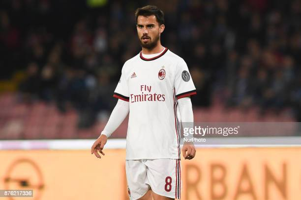 Suso AC Milan during the Serie A TIM match between SSC Napoli and AC Milan at Stadio San Paolo Naples Italy on 18 November 2017