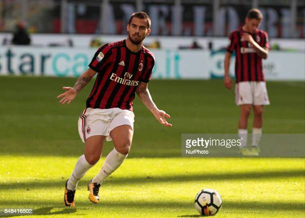 Suso during Serie A match between Milan v Udinese in Milan on September 17 2017