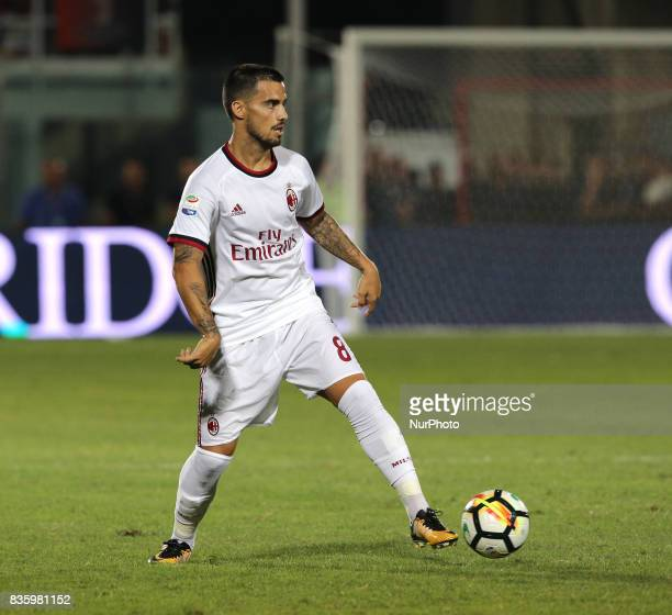 Suso during the Serie A match between FC Crotone and AC Milan on August 20 2017 in Crotone Italy