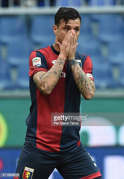 Suso Fernandez of Genoa CFC disappointed for a chance to be the wrong goal during the Serie A match between Genoa CFC and Udinese Calcio at Stadio...